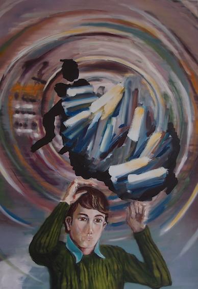 Boy with Cluster, 2014, Öl auf LW, 120 x80 cm