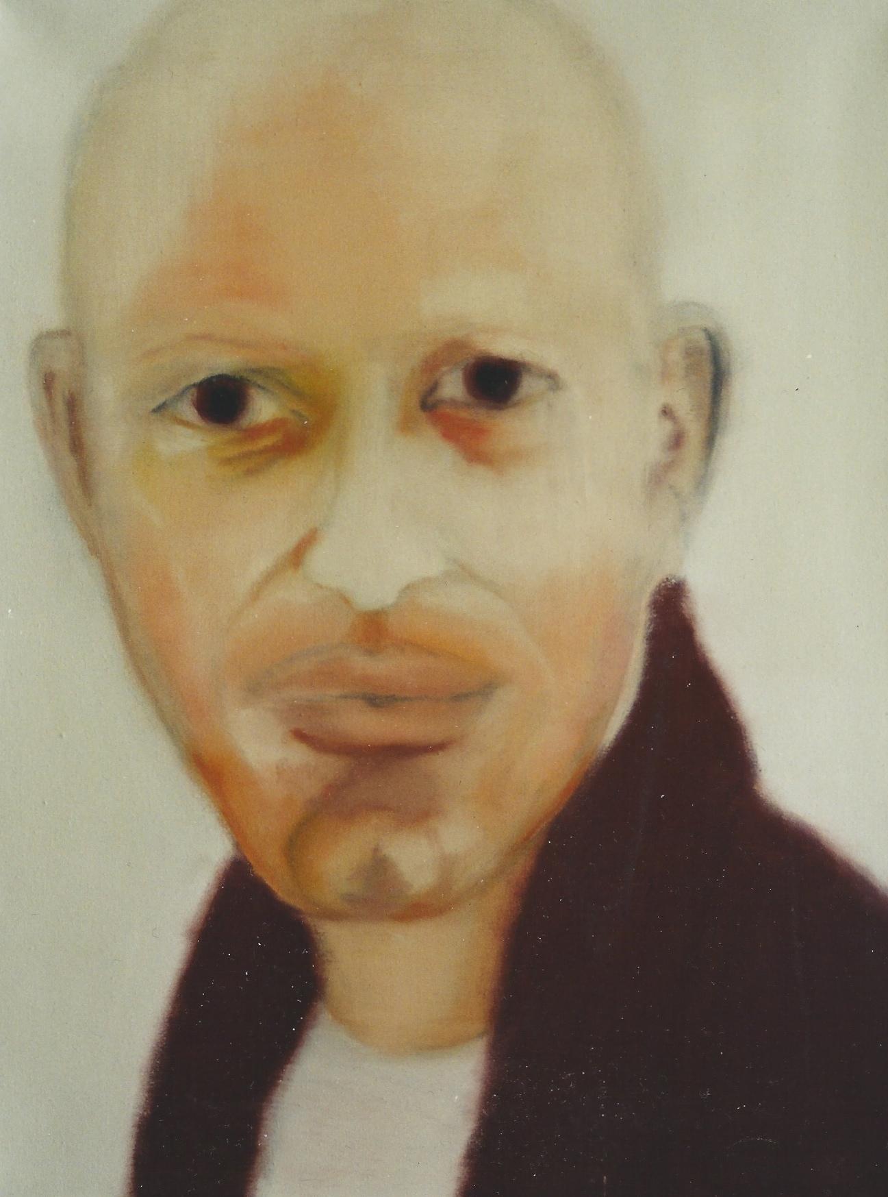 Afro-Deutscher, 1998, Öl auf LW., 60 x45 cm
