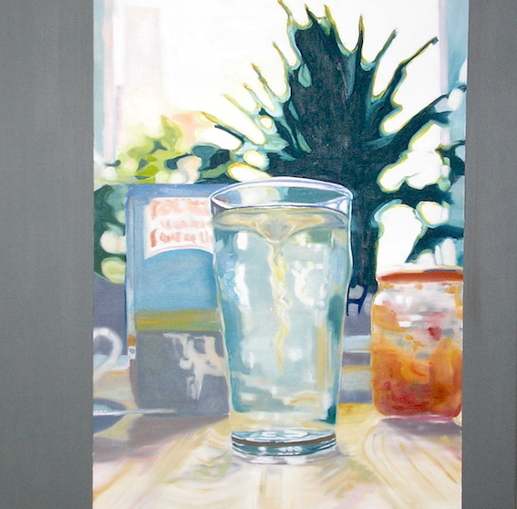 Stillleben, 2006, Öl auf LW., 80x80 cm