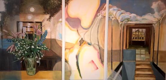 Interieur, 2017, Acryl auf LW., 80 x160 cm