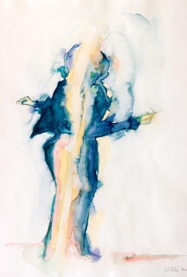 o. T., 2002, Aquarell auf Bütten,48 x 36 cm