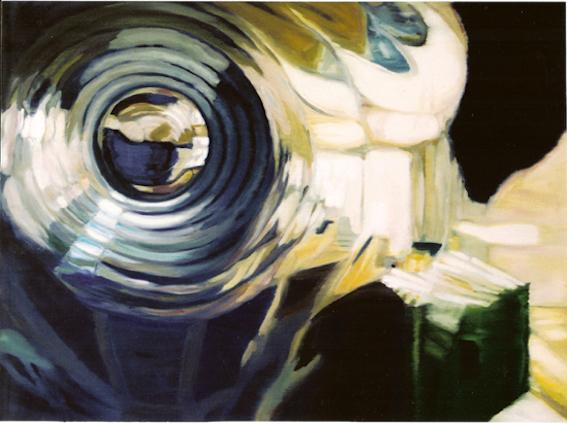 W. Bohns: Liquid Room 1, 2004, Öl auf LW., 100 x 140 cm