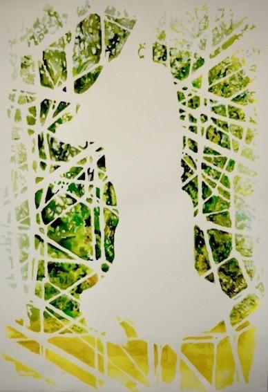 Hanging, 2009, Aquarell auf Bütten, 70 x 50 cm