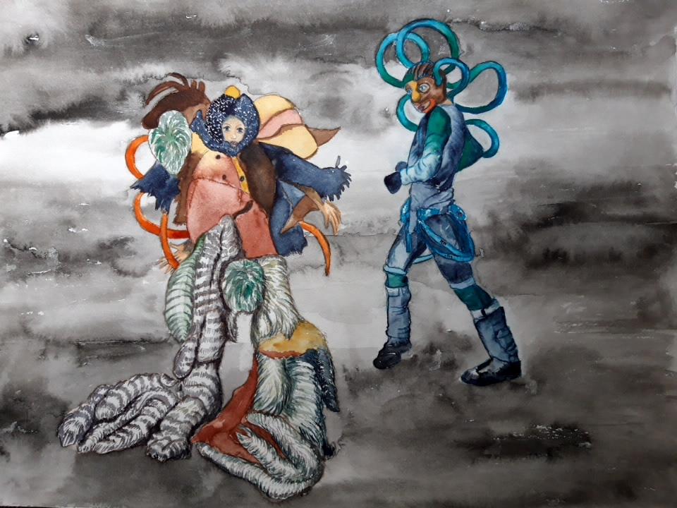 No Zero Drags, 2020, Aquarell auf Bütten, , 36 x 48 cm