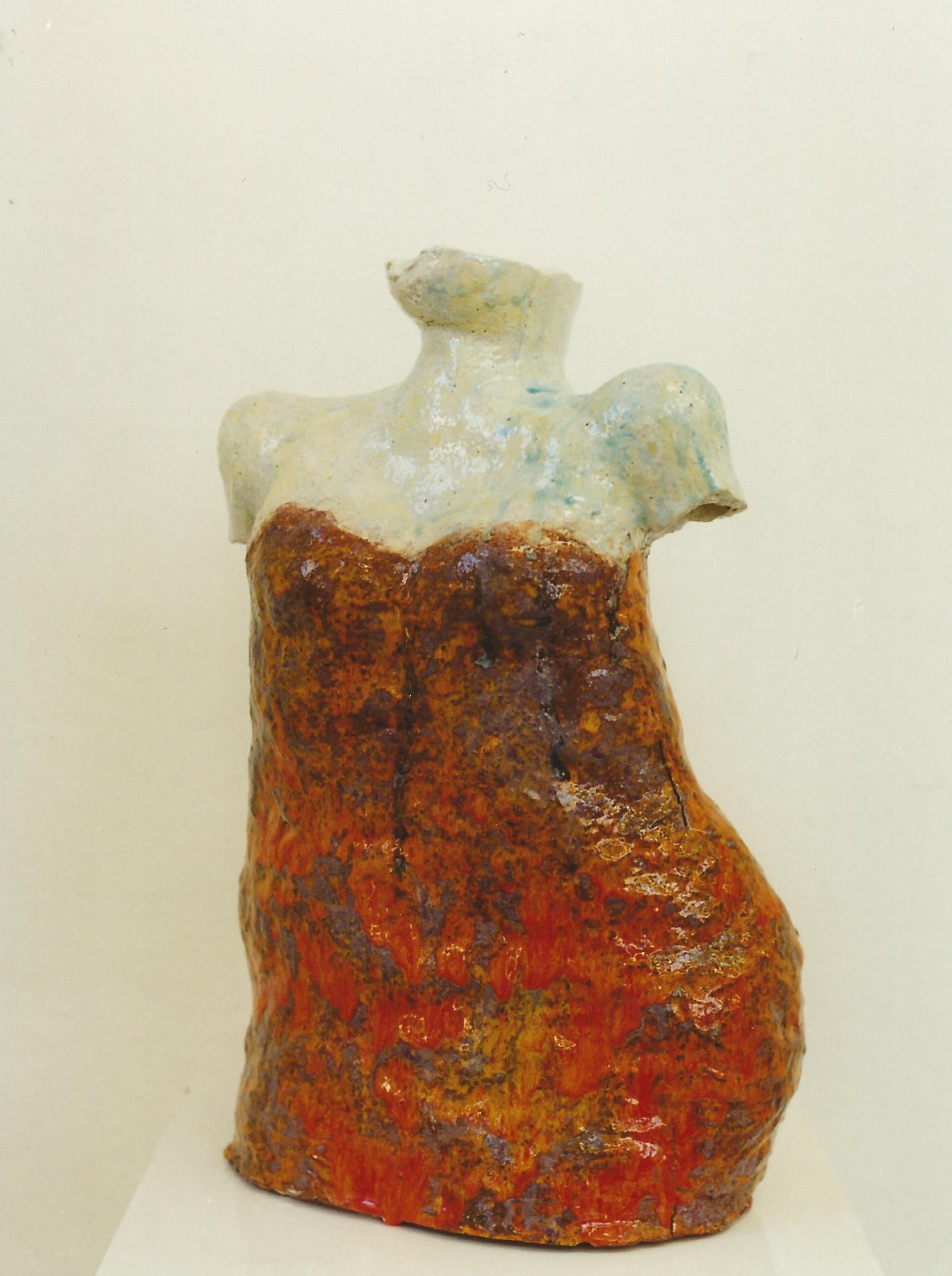 Larney, Keramik glasiert, 1998, (50 x 33 x 21,5 cm)