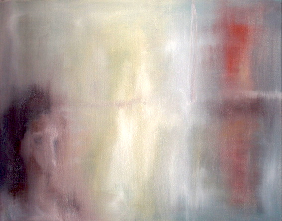 Besucher, 2012, Öl auf LW., 60 x80 cm