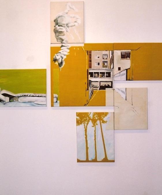 Twister, 2003, Öl auf LW., 190x195 cm