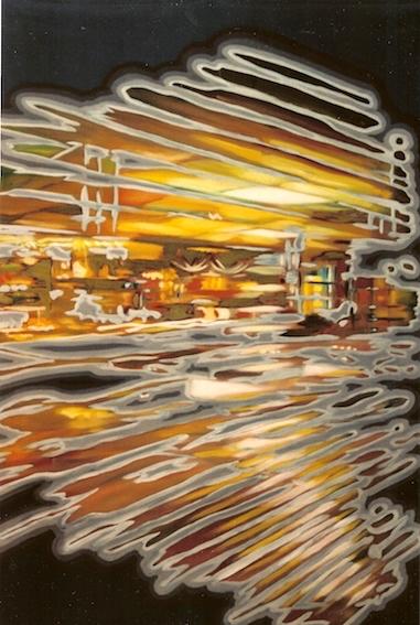 Bar, 2001, Öl auf LW., 130 x 90 cm