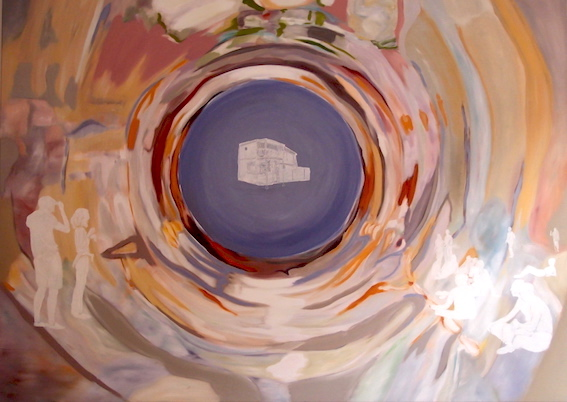 W. Bohns: Liquid Room Nr.7, 2008, Öl auf Leinwand, 100 x 140 cm