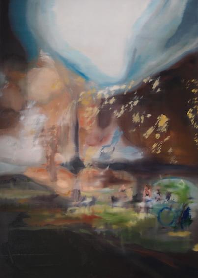 Park, 2014, Öl auf LW., 120 x80 cm