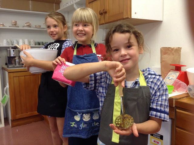 These 'master cooks' prepared the scrumptious brownie the day before our Open Session.
