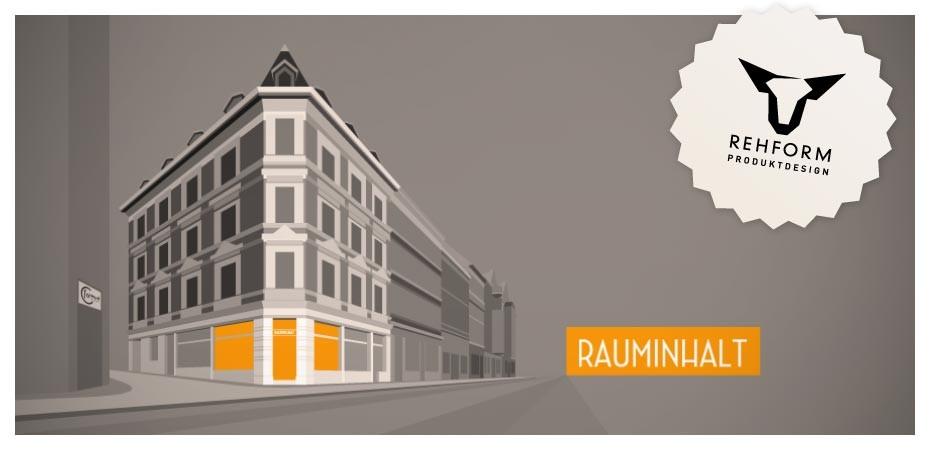 Rauminhalt Flyer Halle Saale, Austellung REHFORM Produktdesign