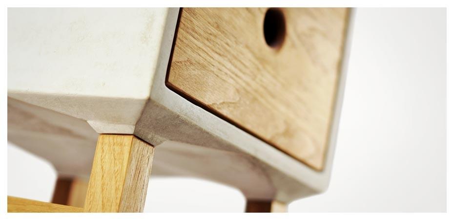 Beton Schubladenmöbel von REHFORM