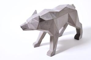 Wolf aus Beton