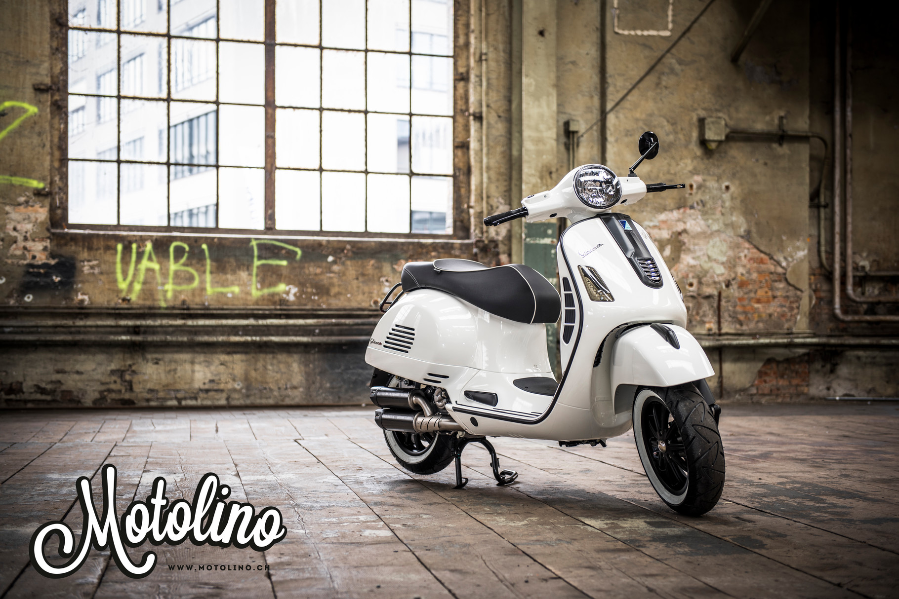 vespa gts 300 tuning special umbau 13 zoll weiss zrich tuttich. Black Bedroom Furniture Sets. Home Design Ideas