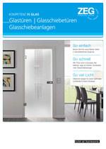 Katalog Glastüren / Glas-Schiebetüren