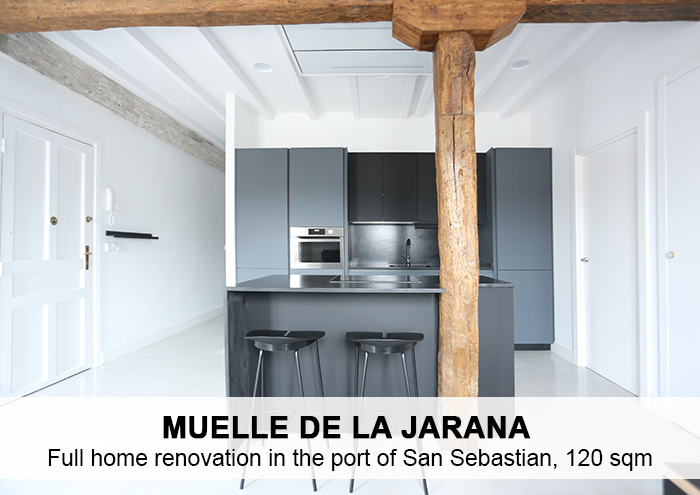 Bitarte Architecture+Interior design / Reforma de vivienda en puerto/ Donostia / diseño / design / interiores /www.bitartearquitectura.com