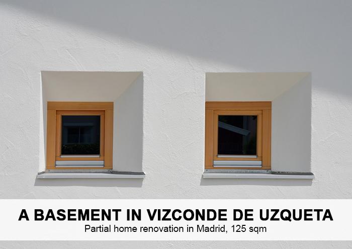 Bitarte Architecture+Interior design / Partial home renovation in Madrid / A basement design / www.bitartearquitectura.com