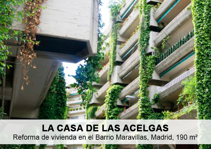 Bitarte Arquitectura+Interiorismo / Reforma de vivienda en Sta Cruz de Marcenado/ La casa de las Acelgas Madrid / www.bitartearquitectura.com