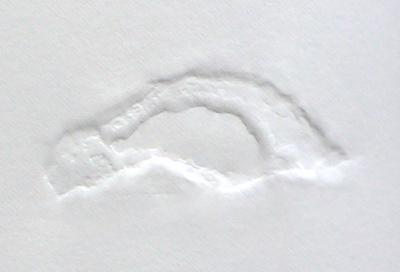 estampage de galet sur papier Fabriano - 2018
