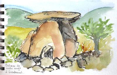 dolmen du site des mégalithes de l'abbaye de Grandmont