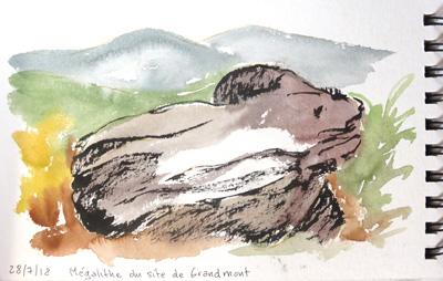 site des mégalithes de l'abbaye de Grandmont