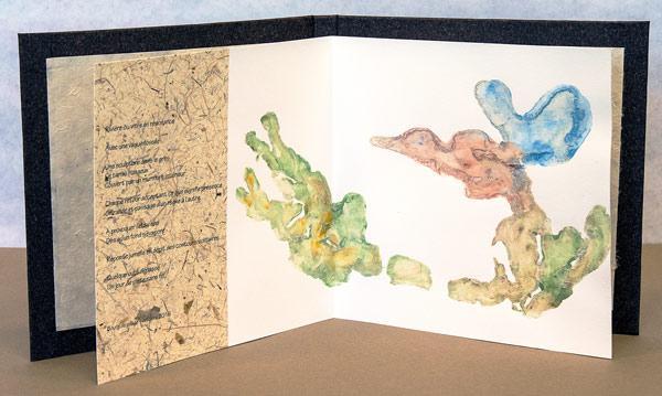 Le cœur de la rivière - 4e double page - poésie et impression de terre
