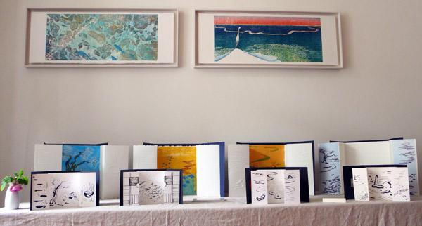 estampes de Caribaï et estampes et livres d'artistes intitulés Fuzei de Yannick Charon