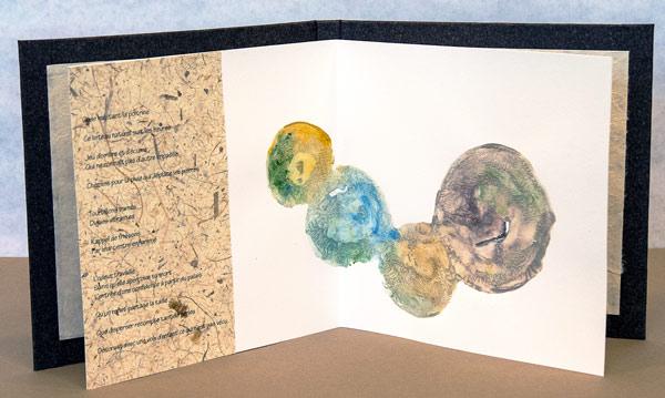 Le cœur de la rivière - 3e double page - poésie et impression de terre