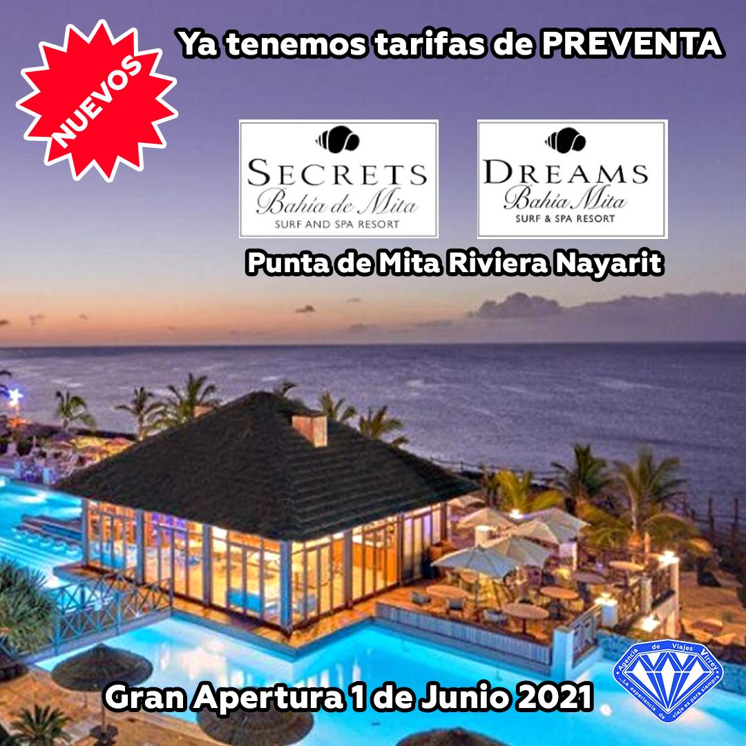 Abren sus puertas Secrets y Dreams Bahía Mita en 2021