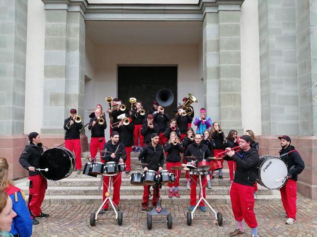 Nach der Narrenmesse in der Johanneskirche in Todtnau.