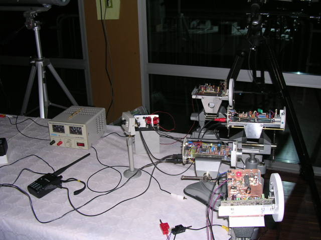 DEMO transmission laser : Le matériel