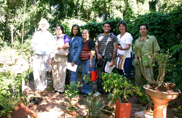 Curso práctico de Fitoterapia dictado por la Fundación Educacional y Ecológica L.A.E.E.F. Reconocimento de especies medicinales
