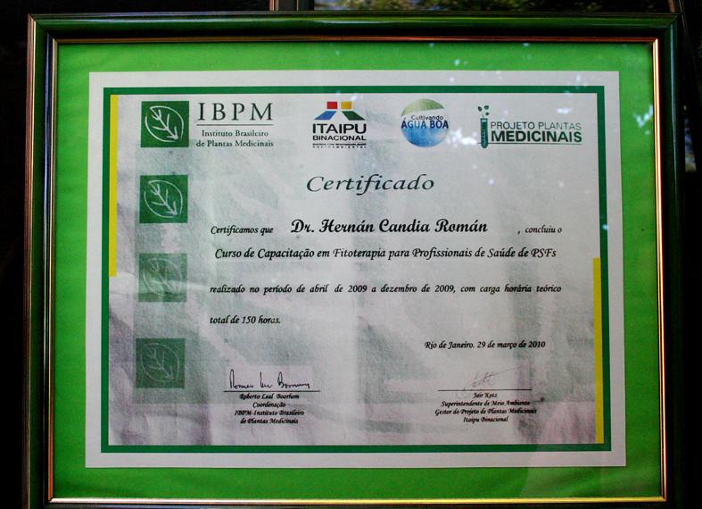 Curso Superior de Fitoterapia y Fitomedicina, Asociacion Brasileña de Fitoterapia. Itaipu Binacional