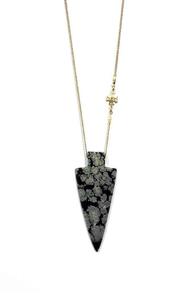 Snowflake Obsidian Arrowhead - RARE   Jewelry by Rama Rejman
