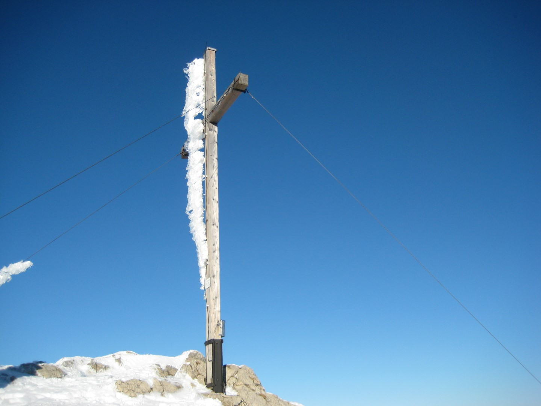 das Gipfelkreuz am Sonnwendjoch