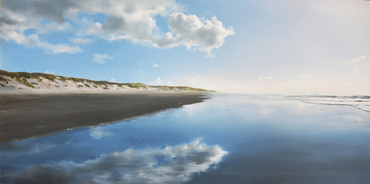 Reflections - oil on panel 60 x 120 cm AVAILABLE at Gallery van Dun Oisterwijk