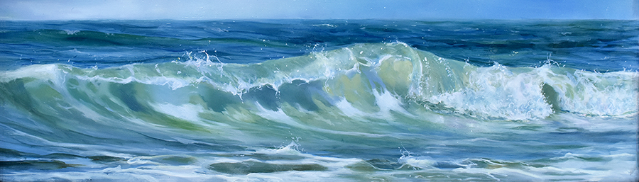 oil on panel 17 x 60 cm SOLD