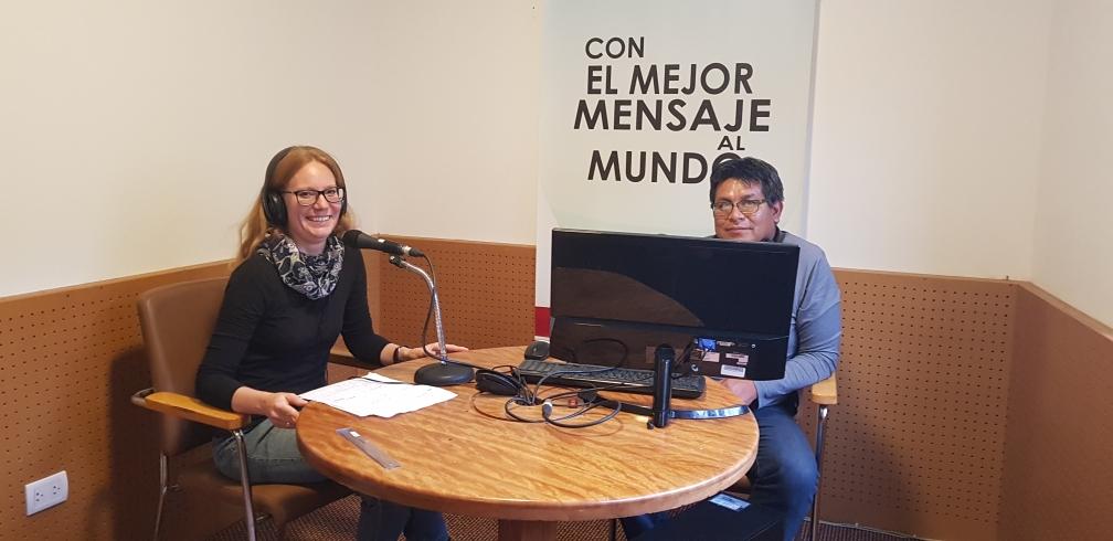 "Im Radio Diospi Suyana in der Sendung ""TuSalud"""