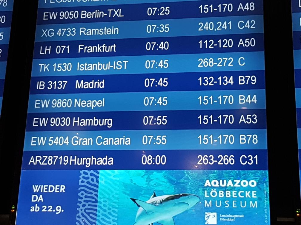 Über Madrid nach Lima.