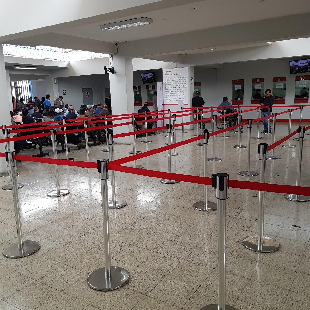 Wartesaal im Verkehrsministerium in Lima
