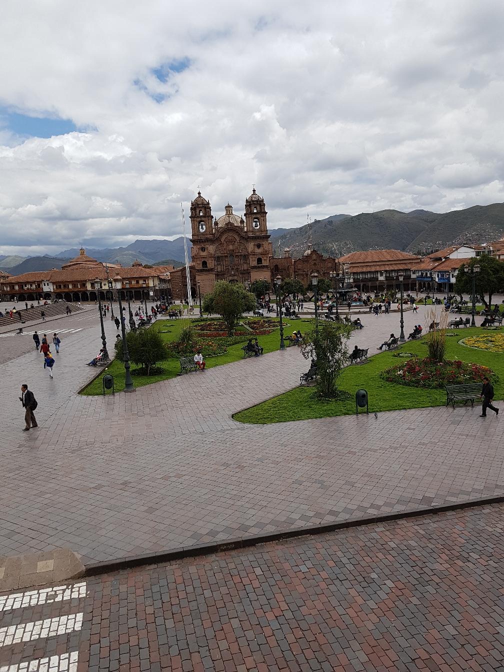 Blick auf den Plaza de Armas (Hauptplatz) in Cusco