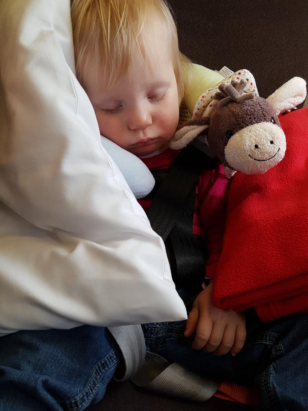 Oder auch schlafend vergeht die Zeit wie im Fluge.