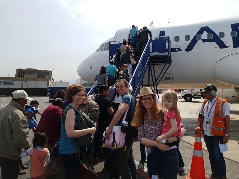 Flughafen Lima auf dem Boden...