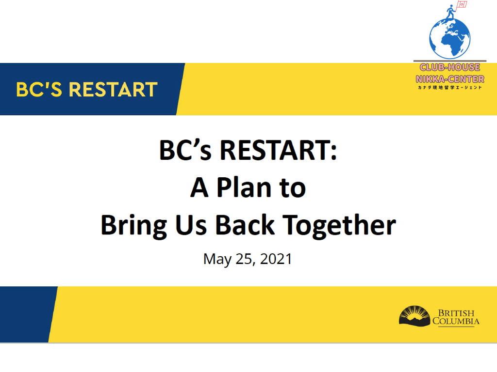 BC州の規制緩和:2021年5月25日