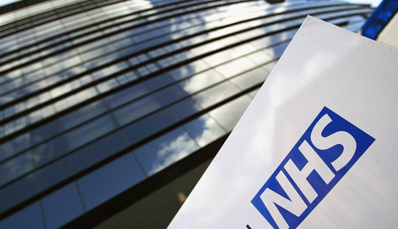 NHS logo on sign