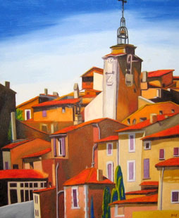 290 - Le clocher de Roussillon '03, 2003