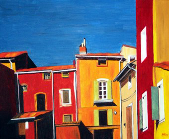 318 - Roussillon / Facades typiques, 2005