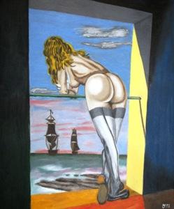 489 - Dali goes Friedrich oder das ostfriesische Fenster, 2013
