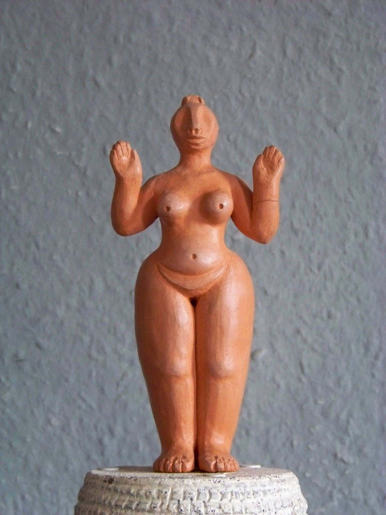 Inanna, gebr. Ton, 1995, 18 cm